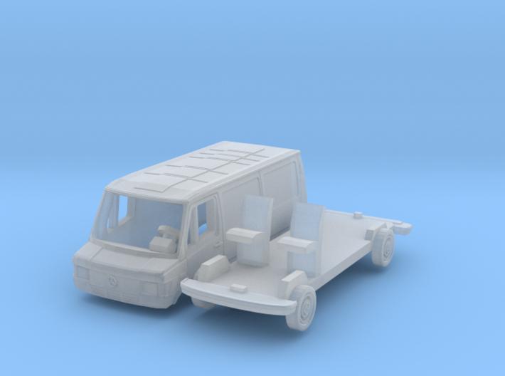 Mercedes-Benz 207D Bus (N 1:160) 3d printed