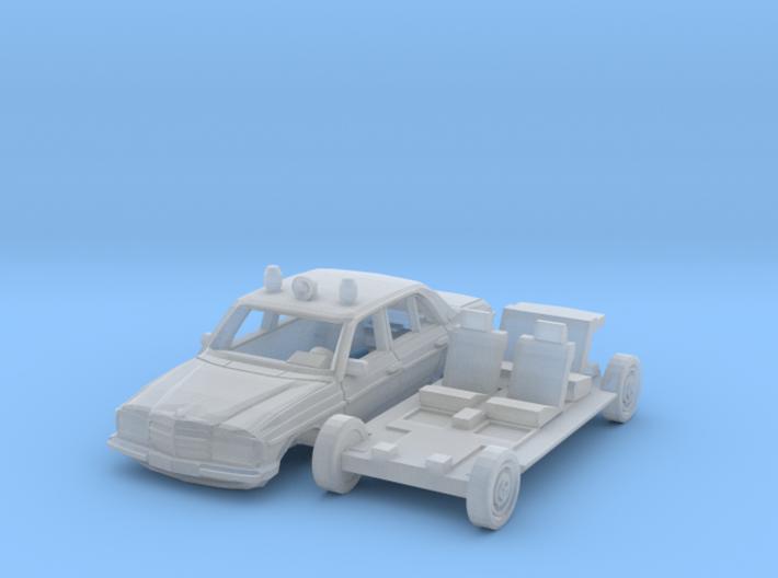 Mercedes-Benz W123 Polizei (TT 1:120) 3d printed