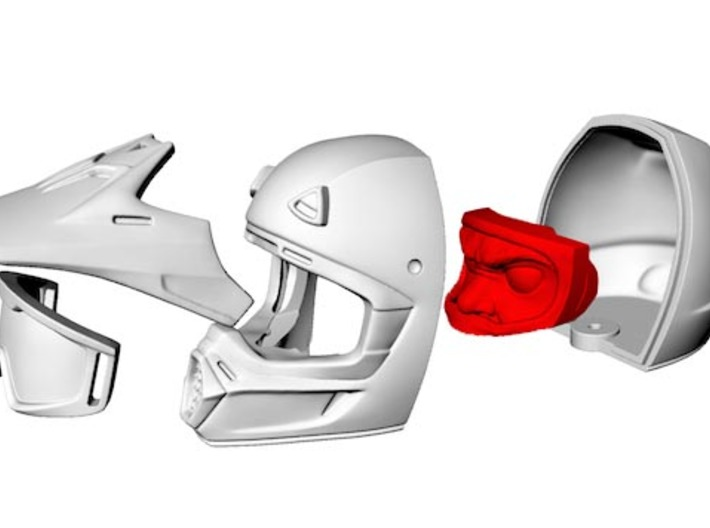 WW10002 Wild Willy Moto Face 3d printed Purchase only includes red part. See link below to purchase the complete figure