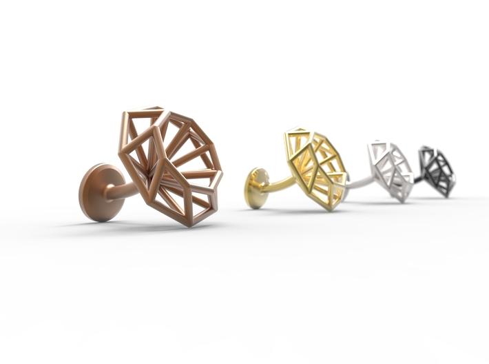 Cufflinks Octagonal 3d printed