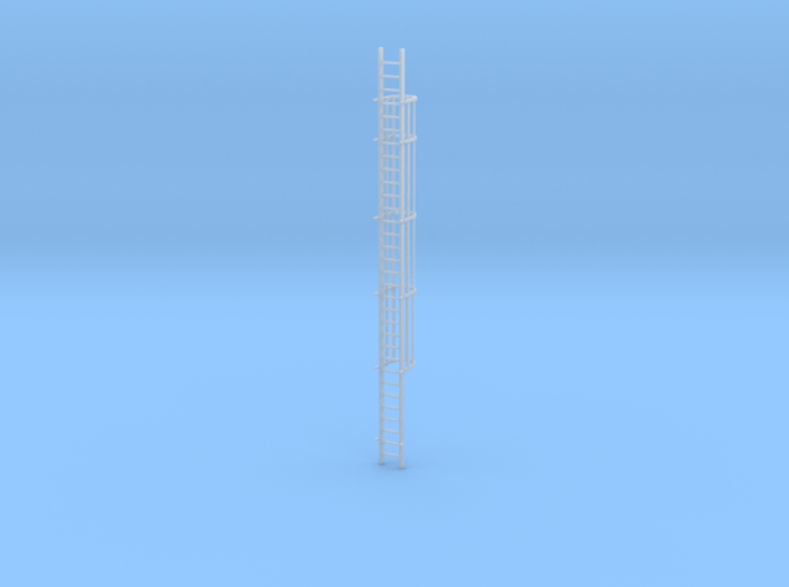 'S Scale' - 30 Ft. Caged Ladder 3d printed