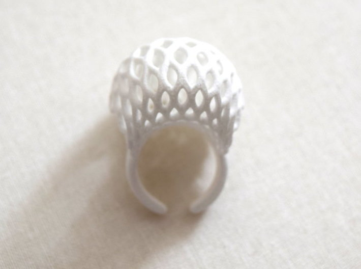 Globe Ring (US size 6.5) 3d printed