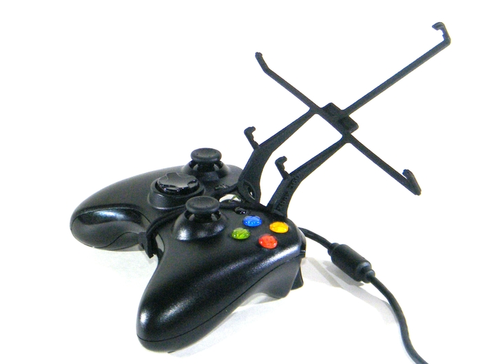 Xbox 360 controller & Mpman MPW80 3d printed Without phone - A Nexus 7 and a black Xbox 360 controller