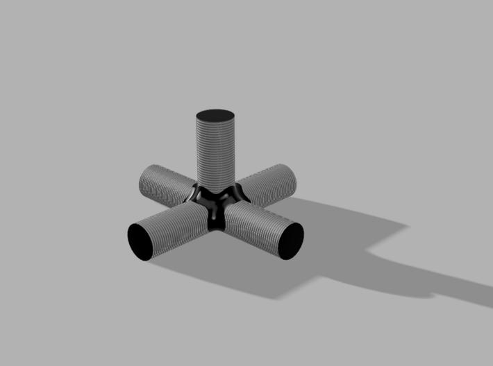 Bora - 5way Joint 3d printed