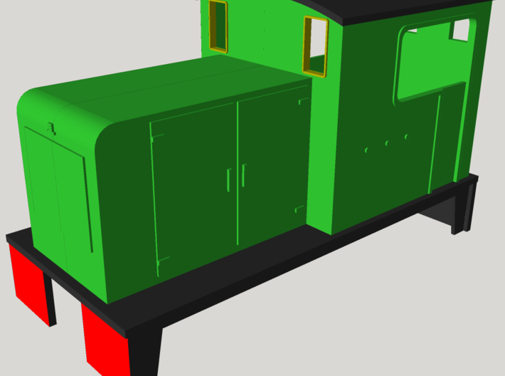 Kerr Stuart Diesel 6wD body - for Roco HOe Chassis 3d printed