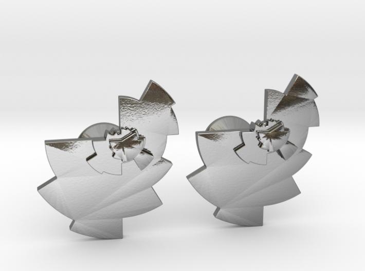 Data Visualization Cufflinks  3d printed