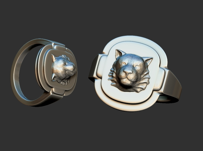 Tiger RING Size8 3d printed