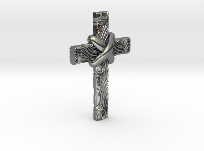 Wooden Cross 3d printed