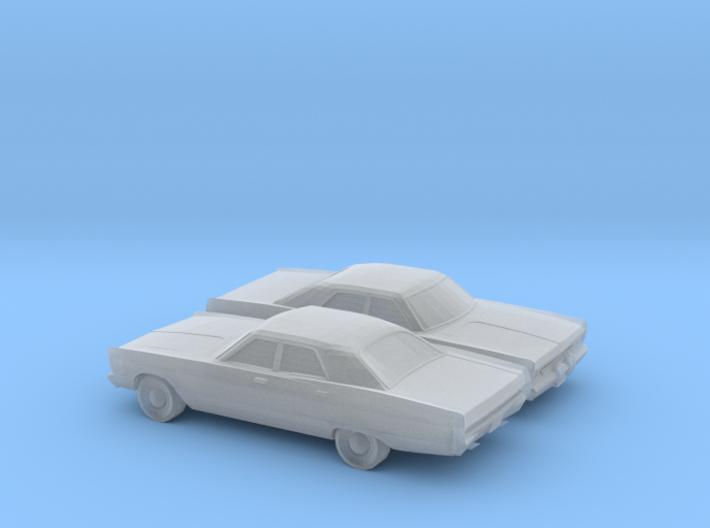 1/160 2X 1969 Plymouth Fury Sedan 3d printed