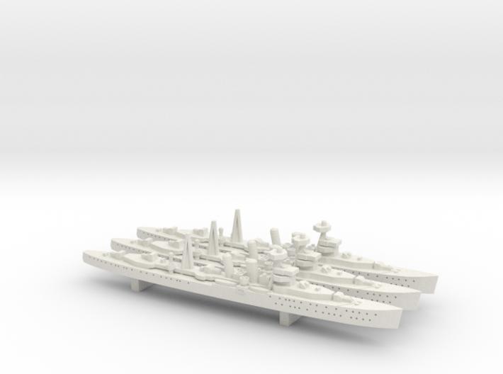 HMS Carlisle 1:1800 x3 3d printed