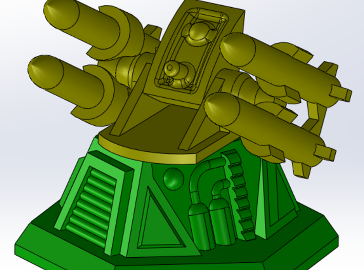 Missile Turret Top 3d printed