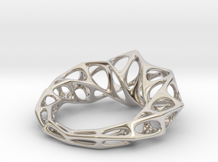 [Flowing ring]Size9|18.9mm 3d printed