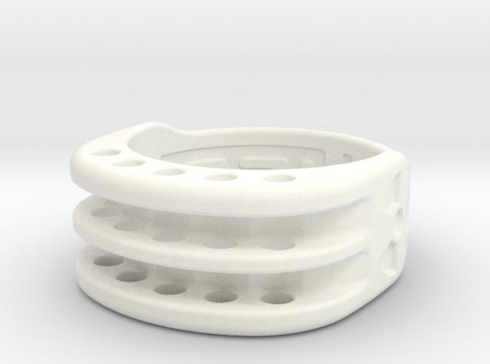 US6 Ring XI: Tritium (Stainless Steel) 3d printed