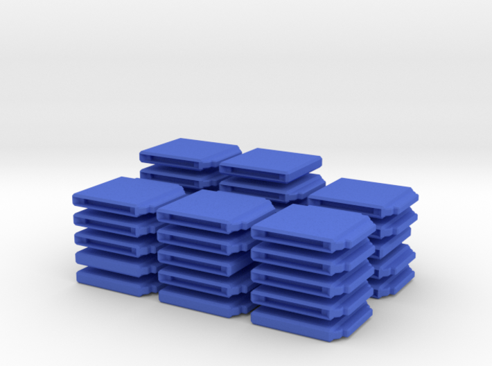 Chess Set Board Blue (PART 3) 3d printed