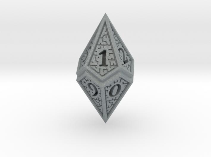 Hedron D10 (v2 open) Spindown - Solid 3d printed