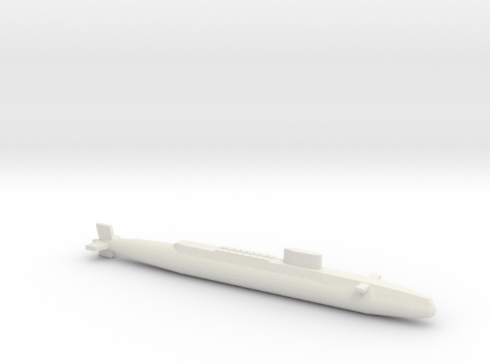 HMS Resolution SSBN, Full Hull, 1/2400 3d printed