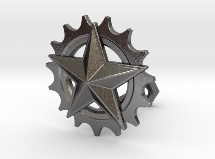 Gear & Star 3d printed