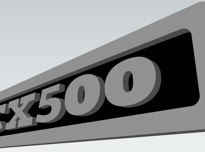 CX500 Engine Badge 3d printed