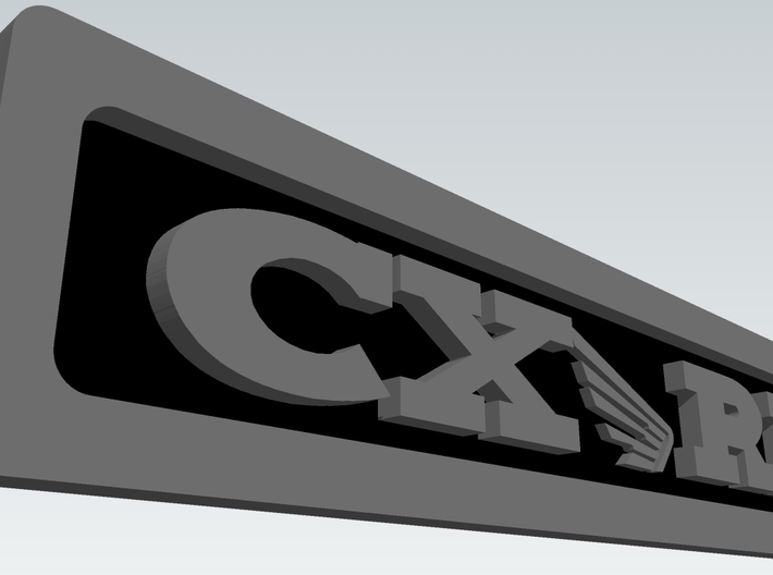 CXwingRR Engine Badge - Right 3d printed