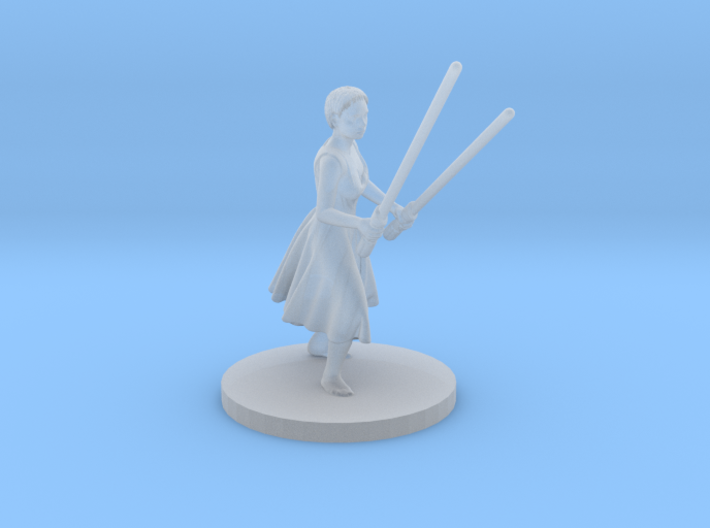 Irina with two lightsabers 3d printed