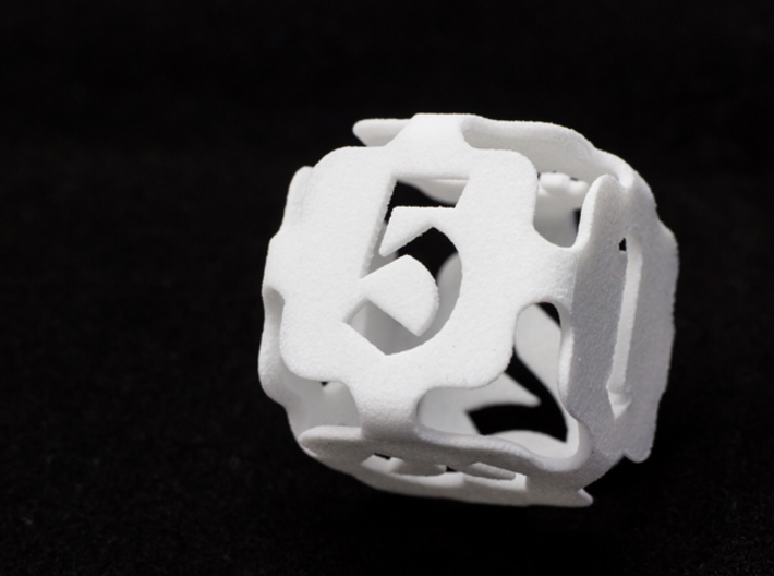 Big die 6 / d6 24mm / dice set 3d printed d6 white