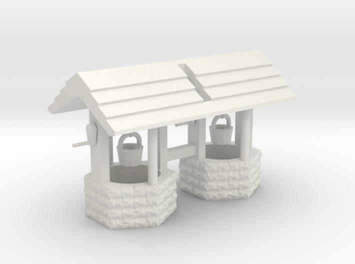 Wishing Well Base Block01 'O' 48:1 Scale Qty (2) 3d printed