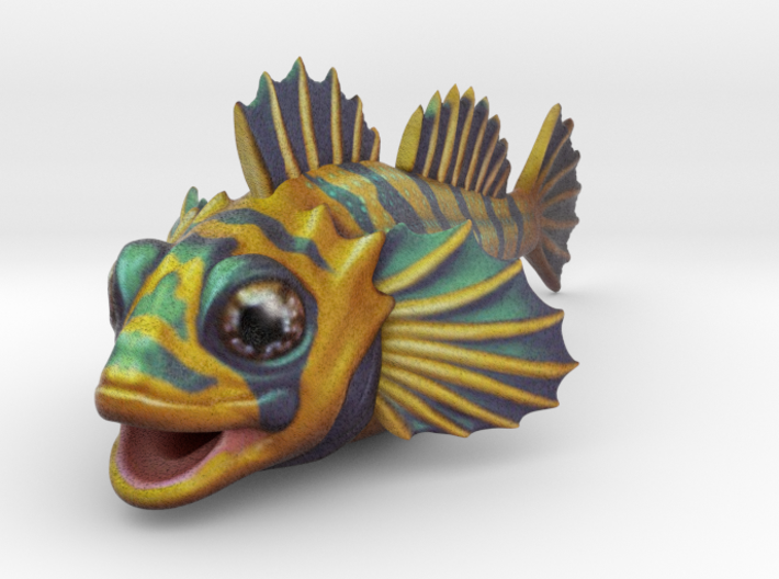 Flipping Fish! -nothing but the fish! 3d printed