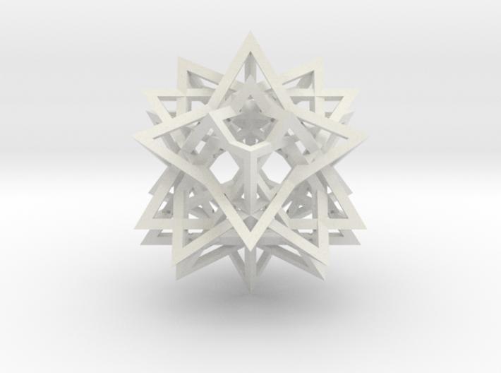 Tetrahedron 8 Compound 3d printed