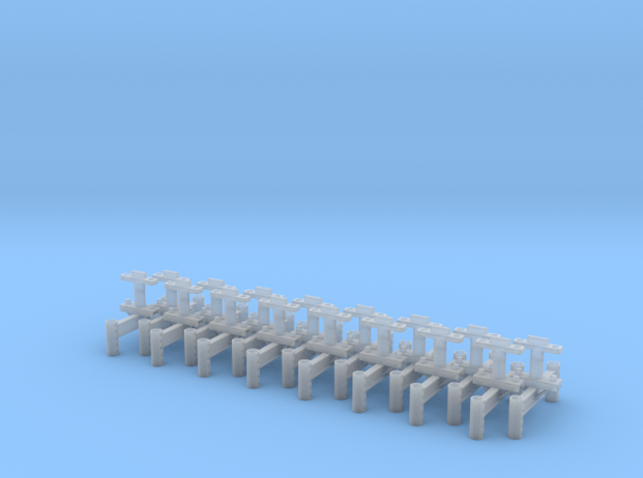 Monorail H Stand Set of 16 3d printed