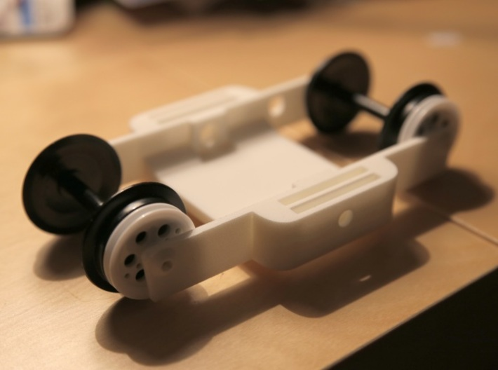 Train-lapse rig for GoPro 3d printed Result form Shapeways
