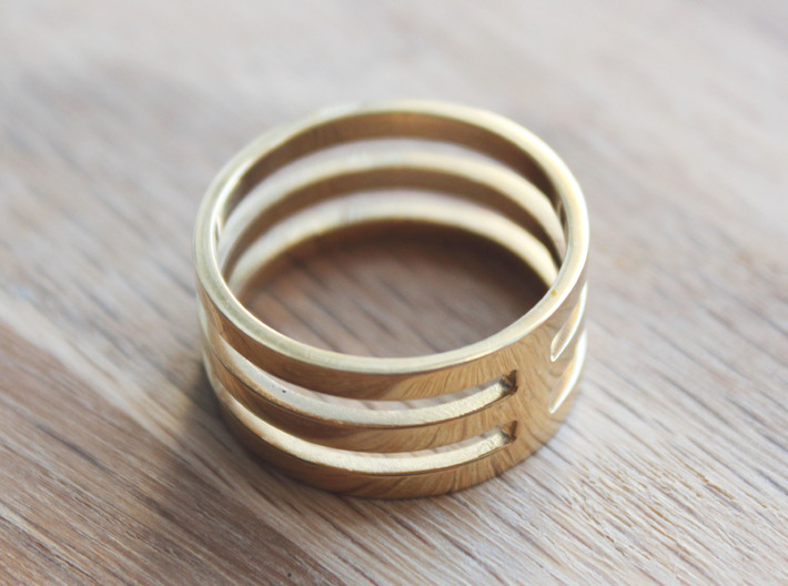 Amon - Size 12 3d printed Polished Brass