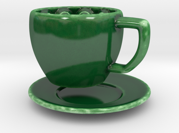Carnivorous Coffee cup 3d printed