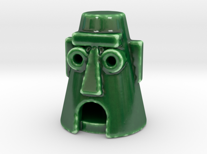 Easter Island fish tank ornimant 3d printed
