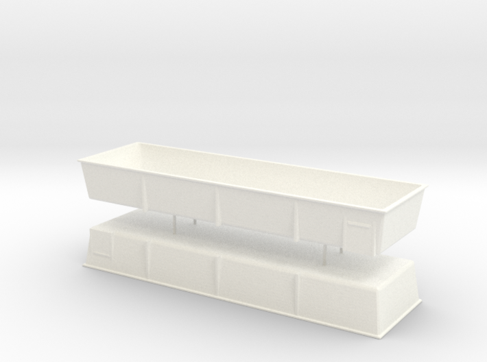 1/87th Flatbed Tomato or produce Tubs (2) 3d printed