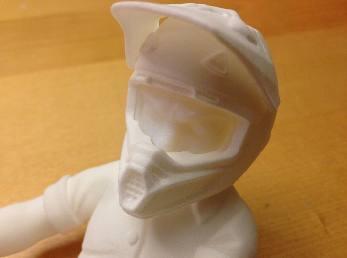 WW10001 Wild Willy Moto Visor 3d printed