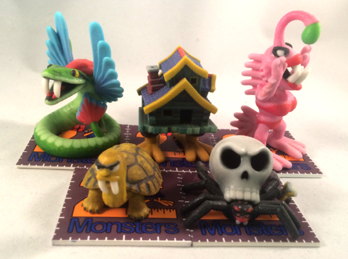 2 Inch Monsters: Batch 08 3d printed