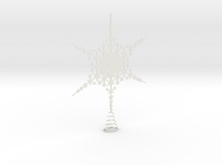 Sparkle Snow Star - Fractal Tree Top - HP0 - S 3d printed