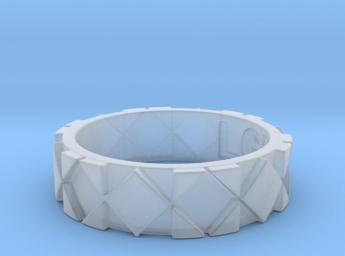 Futuristic Rhombus Ring Size 5 3d printed