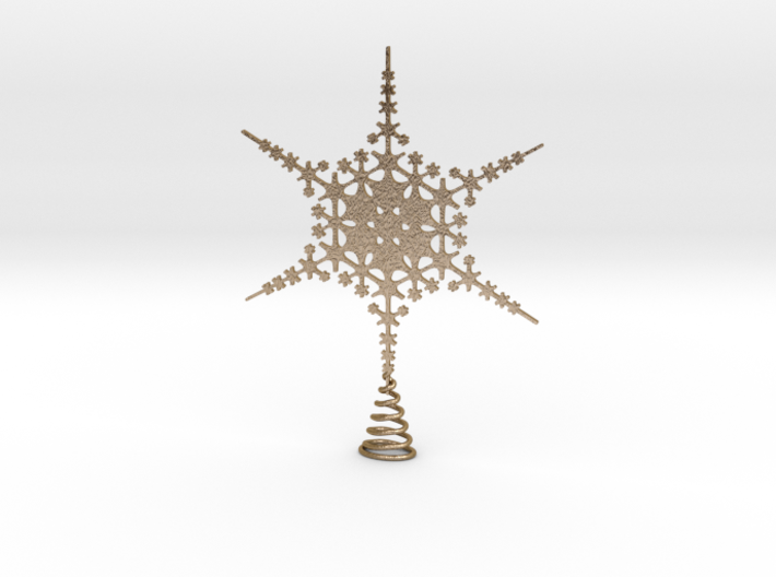 Sparkle Snow Star - Fractal Tree Top - HP2 - L 3d printed