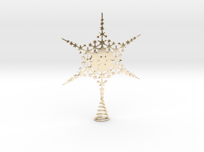 Sparkle Snow Star - Fractal Tree Top - HP3 - S 3d printed