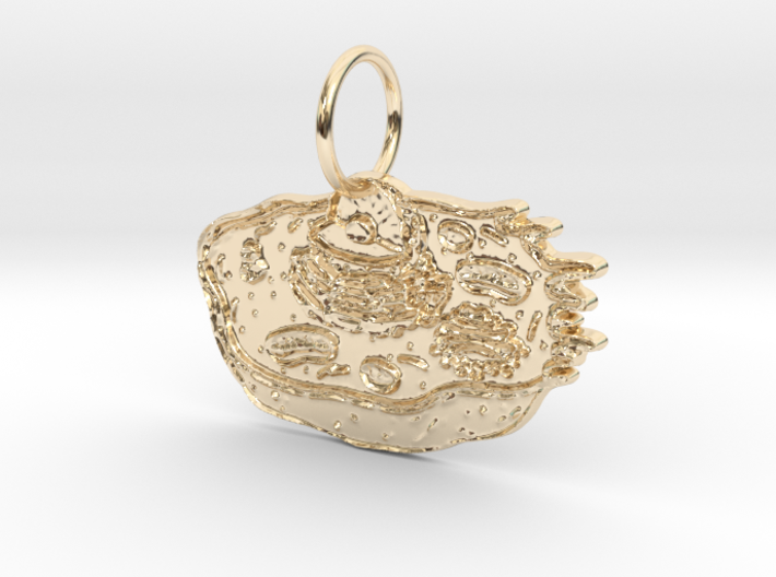 Animal Cell Pendant 3d printed
