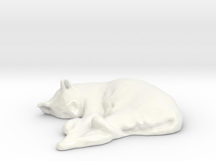 Sleeping Cat 01 3d printed