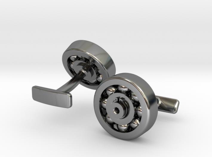 Bearing Cufflink 3d printed