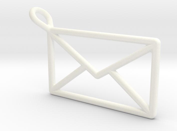 Envelope Pendant - Wireframe 3d printed