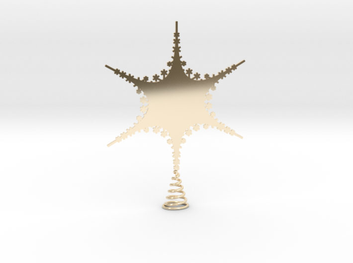 Sparkle Snow Star 2 - Fractal Tree - S 3d printed