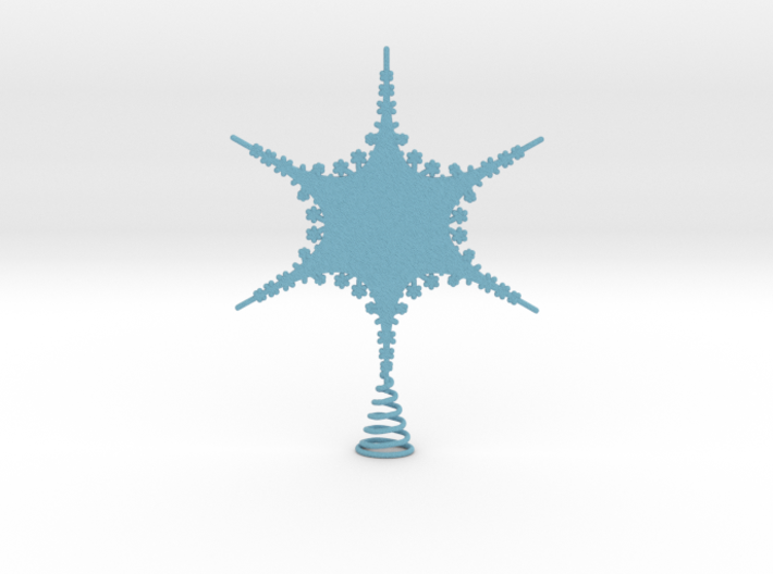 Sparkle Snow Star 2 - Tree Top Fractal - MP - M 3d printed