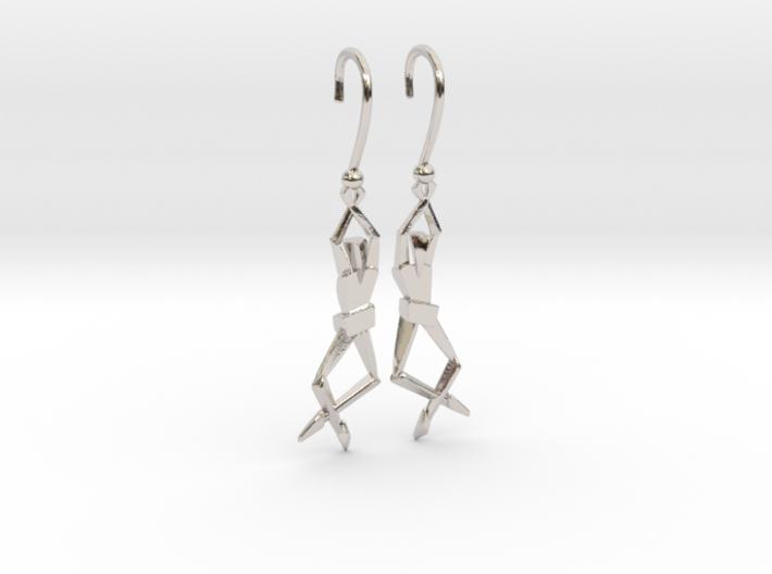 HUMANIS ALPHA ::: EARRINGS 3d printed