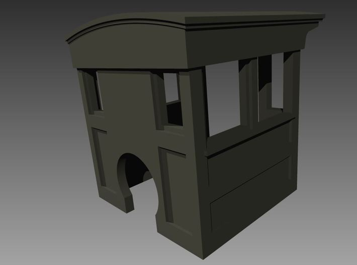 HOn30 Porter 1890s style Wood Cab 1 3d printed