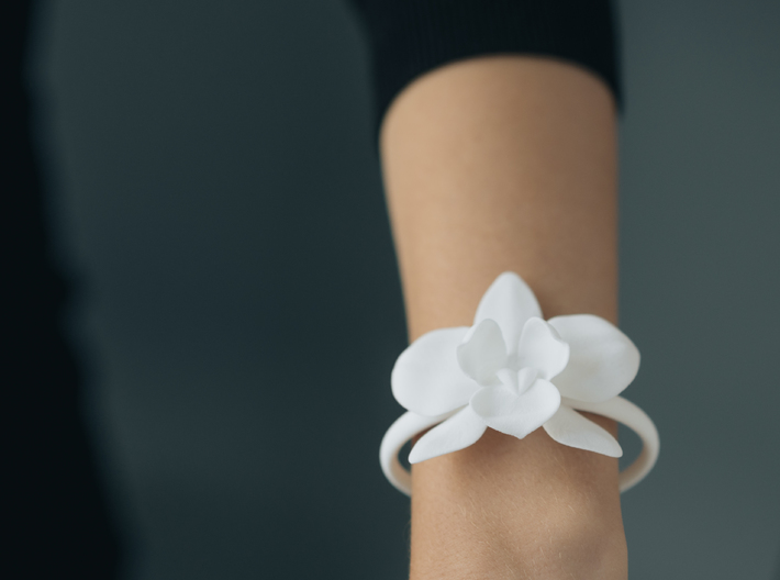 Orchid Bracelet- Nylon Version 3d printed