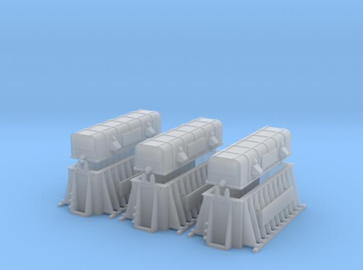 SET 3x Thermohauben (TT 1:120) 3d printed